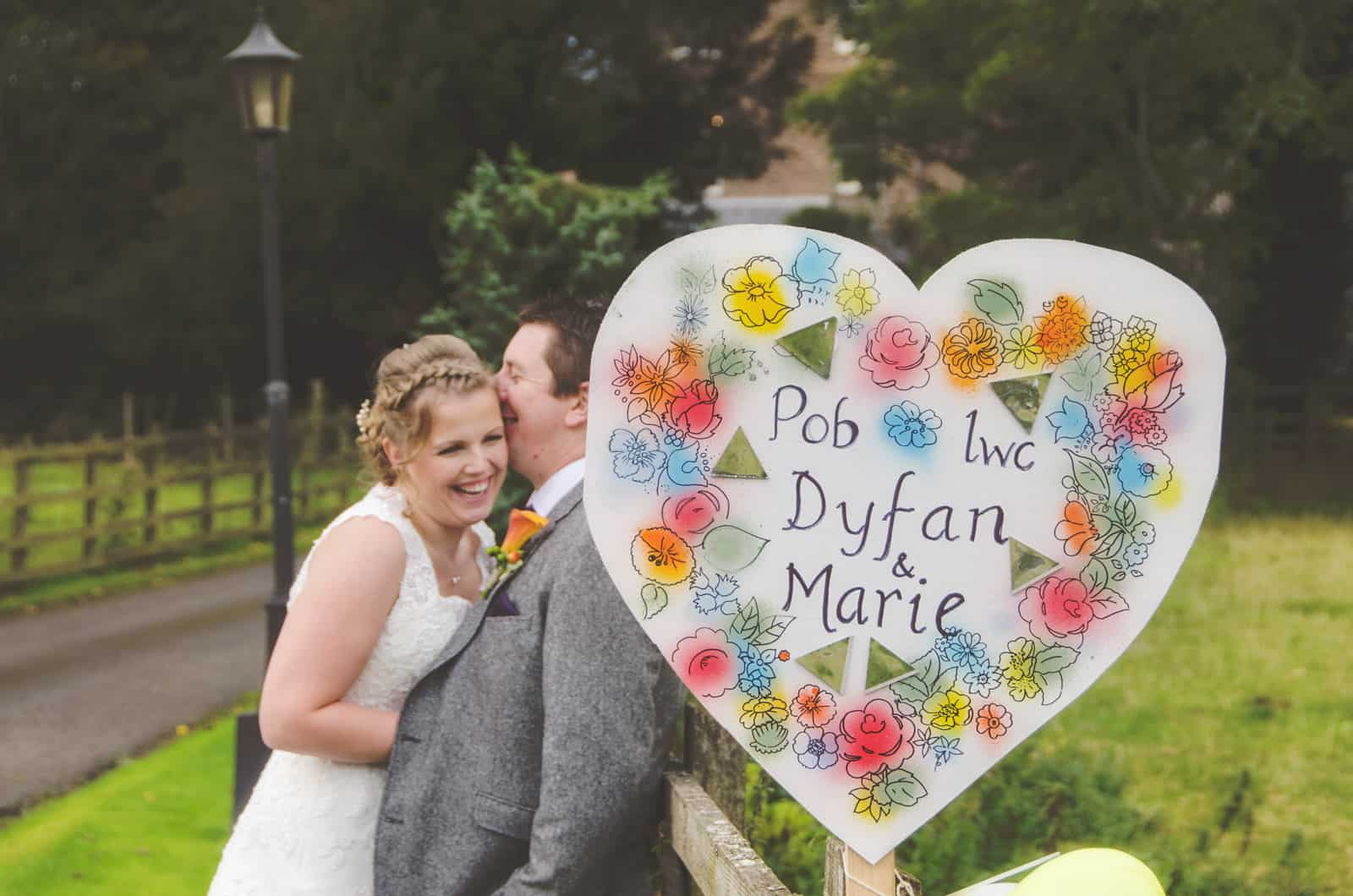 Best Wedding Photographer South Wales Bride & groom Laughing