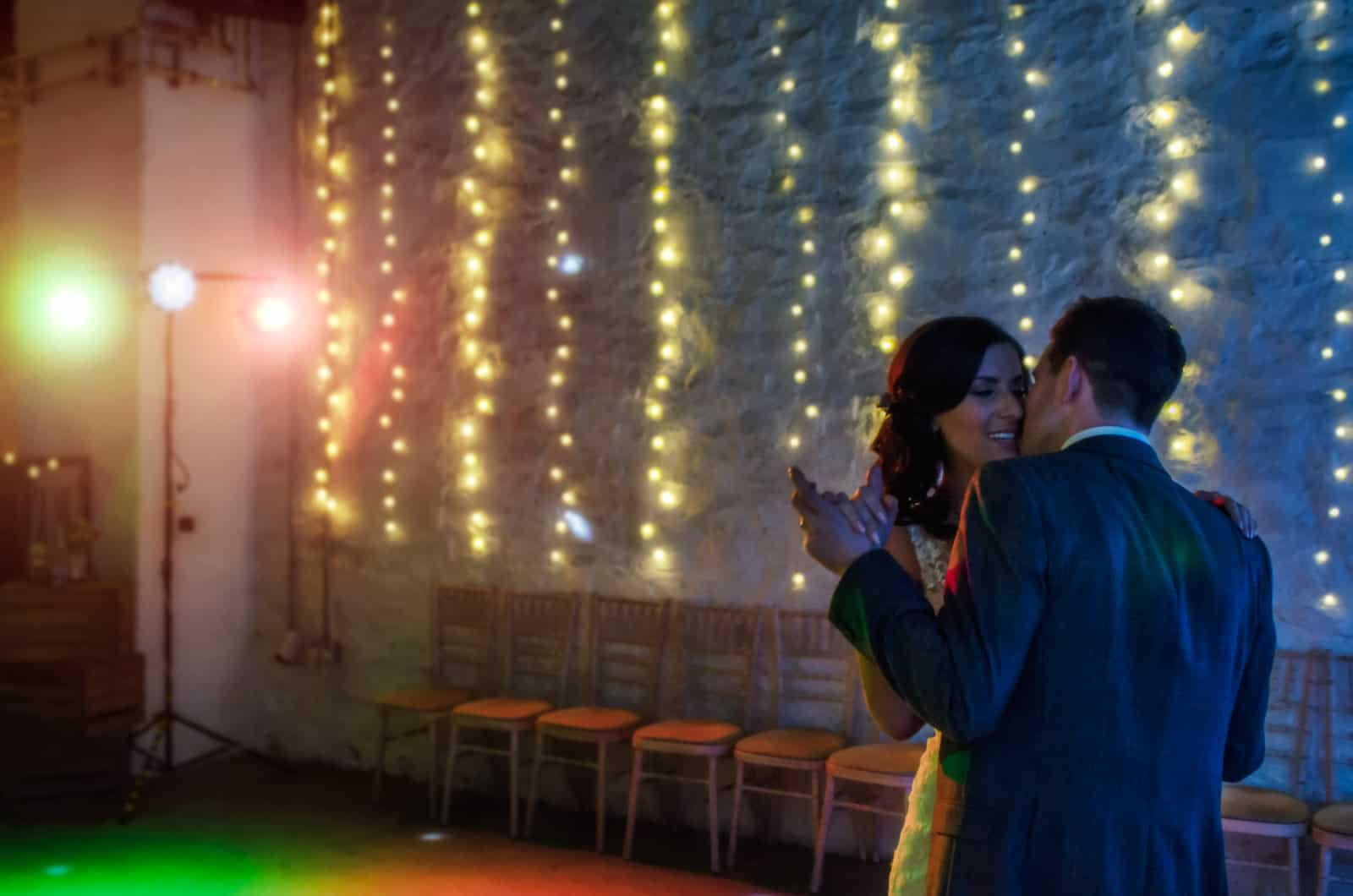 Best Wedding Photographer South Wales Bride and groom have their first dance