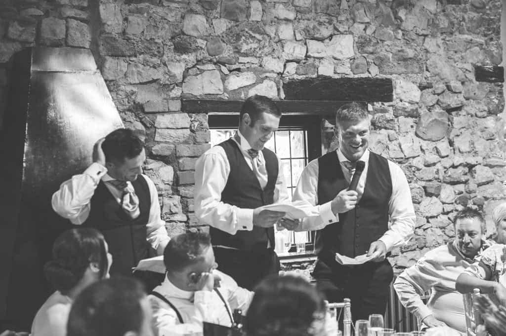 Best Men giving their speeches