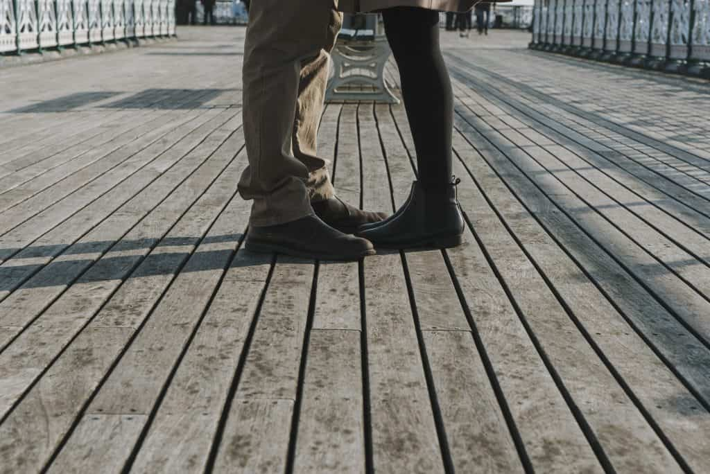 Couple stood on a pier